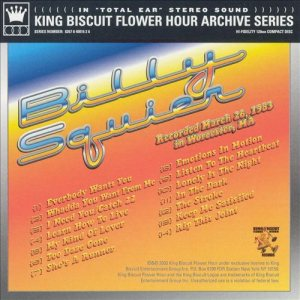 Billy Squier - Greatest Hits Live: King Biscuit Flower Hour Archive Series cover art