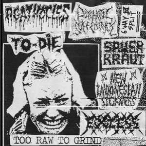 Agathocles / Excess / Psychotic Sufferance - Too Raw to Grind cover art