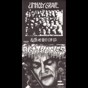 Unholy Grave / Agathocles - Agonies / No Gain - Just Pain cover art