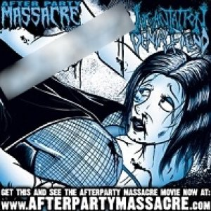Denial Fiend / Incantation - Afterparty Massacre cover art