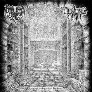 Cadaveric Fumes / Demonic Oath - Entwined in Sepulchral Darkness cover art