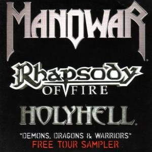 Rhapsody of Fire / Manowar / HolyHell - Demons, Dragons and Warriors cover art