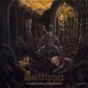 Hellripper - Coagulating Darkness cover art