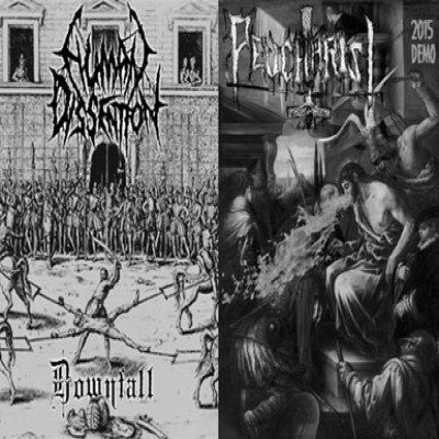 Human Dissention / Peucharist - Downfall / 2015 Demo cover art