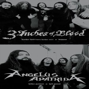 Angelus Apatrida - 3 Inches of Blood / Angelus Apatrida cover art
