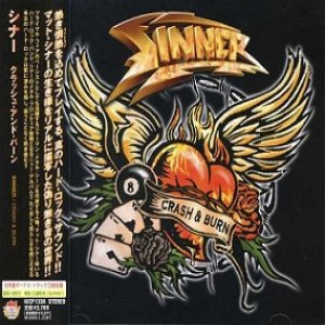 Sinner - Crash & Burn cover art