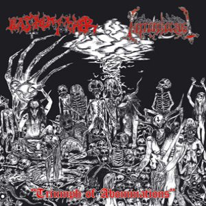 Blasphemophagher / Necroholocaust - Triumph of Abominations cover art