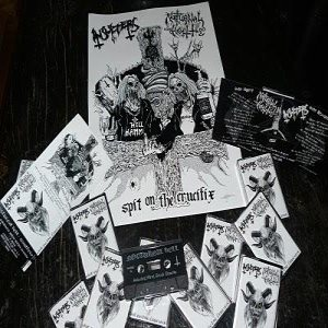 Nocturnal Hell / Insulters - Spit on the Crucifix cover art
