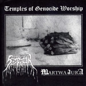 Szron / Martwa Aura - Temples of Genocide Worship cover art