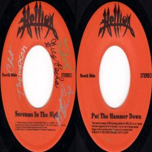 Hellion - Screams in the Night / Put the Hammer Down cover art