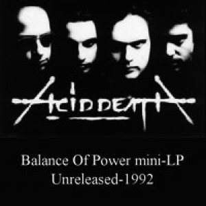 Acid Death - Balance of power cover art