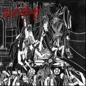 Necrovomit / In League With Satan - NekroAlkoholik Abominations with Satan cover art