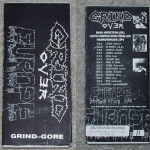 Dead Infection / Haemorrhage / Clotted Symmetric Sexual Organ - Grind over Europe cover art