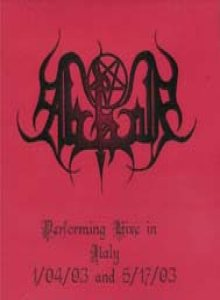 Abhor - Live in Italy 1/04/03 and 5/17/03 cover art