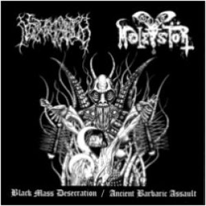 Necros Christos - Black Mass Desecration / Ancient Barbaric Assualt cover art