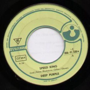 Deep Purple - Speed King cover art