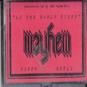 Mayhem - As the World Burns cover art