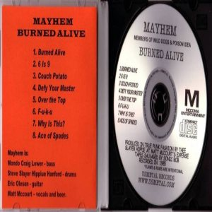 Mayhem - Burned Alive Demos 1985 cover art