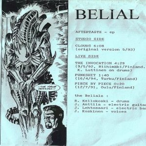 Belial - Aftertaste cover art