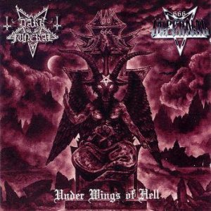 Dark Funeral / Infernal - Under Wings of Hell cover art
