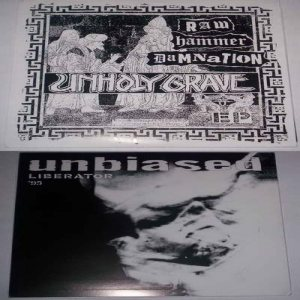 Unholy Grave - Raw Hammer Damnation / Liberator '95 cover art