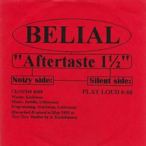 Belial - Aftertaste 1 1/2 cover art