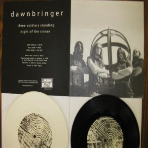 Dawnbringer - Three Soldiers Standing / Night of the Sinner cover art