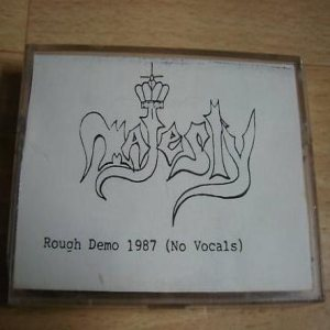 Majesty - Rough Demo 1987 cover art