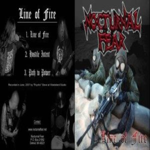 Nocturnal Fear - Line of Fire cover art