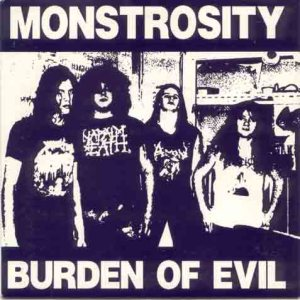 Monstrosity - Burden of Evil
