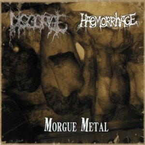 Haemorrhage / Disgorge - Morgue Metal cover art