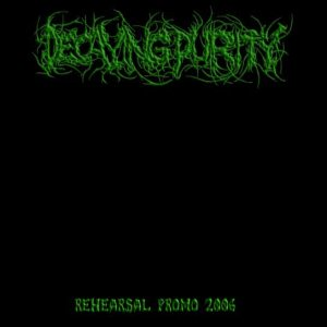 Decaying Purity - Rehearsal Promo 2006 cover art