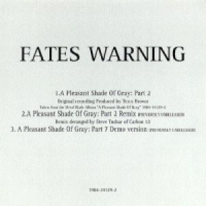 Fates Warning - A Pleasant Shade of Gray: Part II cover art