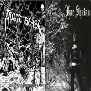 Front Beast / Har Shatan - Laws of the cemetery / Pain & Misery cover art