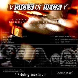 Voices of Decays - Doing Maximum cover art