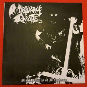 Mortuary Drape - Black Flames of Blasphemy cover art