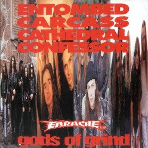 Entombed / Carcass / Cathedral / Confessor - Gods of Grind cover art