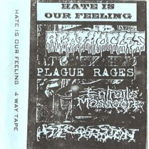 Plague Rages / Agathocles / Entrails Massacre - Hate Is Our Feeling cover art