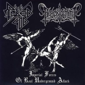Black Torment / Raped God 666 - Imperial Forces of Real Underground Attack cover art