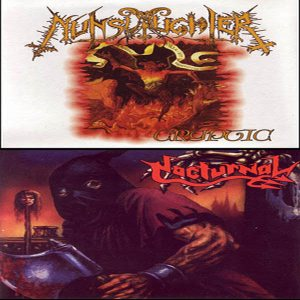 Nunslaughter / Nocturnal - Cryptic cover art