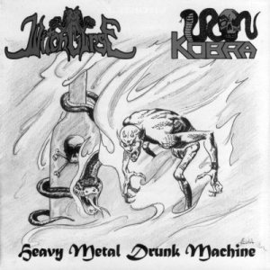 Witchcurse / Iron Kobra - Heavy Metal Drunk Machine cover art