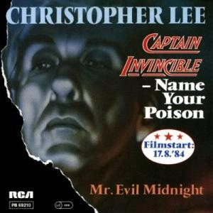 Christopher Lee - Captain Invincible - Name Your Poison cover art