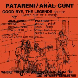 Patareni - Good Bye, the Legends cover art