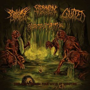 Begging For Incest / Extermination Dismemberment - Drowned Through Four Ways of Vomiting cover art