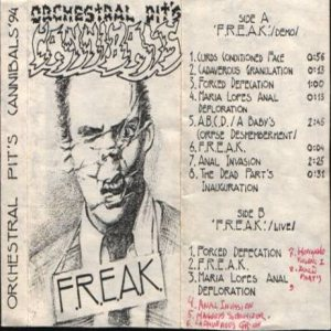 "Orchestral Pit's Cannibals - ""F.R.E.A.K."" cover art"