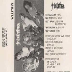 Militia - Demo 1989 cover art