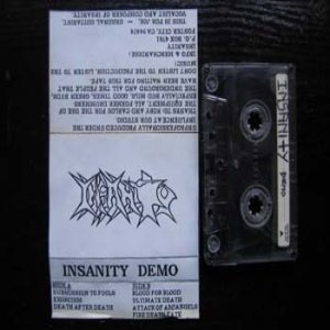 Insanity - Demo 1989 cover art