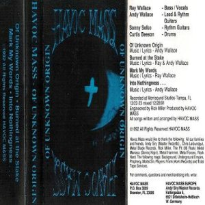 Havoc Mass - Of Unknown Origins cover art