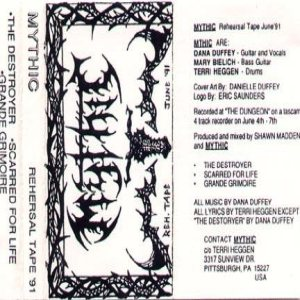 Mythic - Rehearsal Tape 1991 cover art