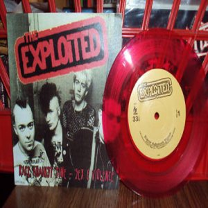 The Exploited - Race Against Time / Sex & Violence cover art